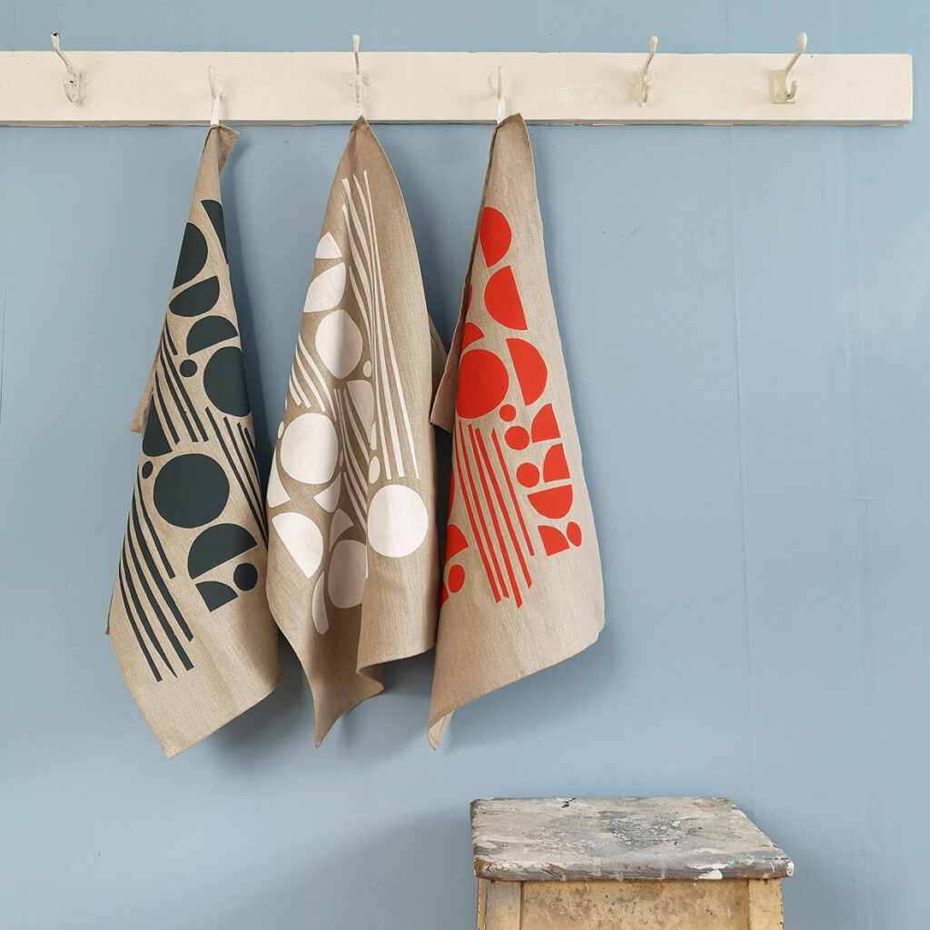 Shapes Linen Tea Towel