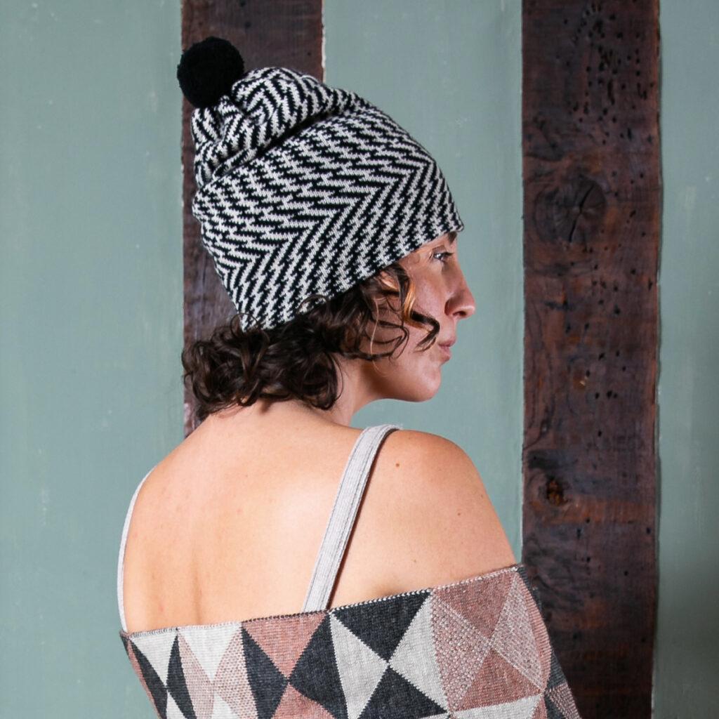 Dazzle Pompom Hat